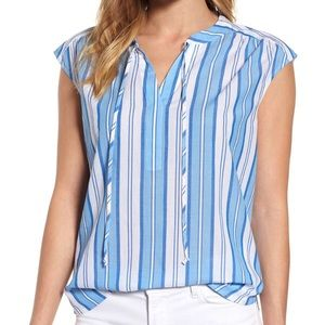 Vineyard Vines Ocean Stripe Cap Sleeve Popover XL